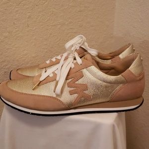 Michael Kors Gold Stanton  Metallic  Sneake